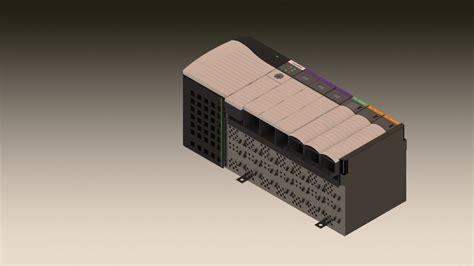 Allen Bradley 3d Models allen bradley controllogix plc 3d cad model library