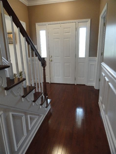 Wainscot Flooring White Wainscoting And Wood Floors For The Home