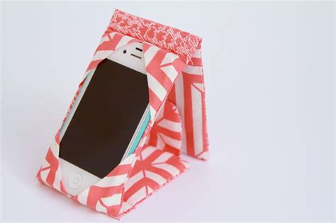 how to make a mobile cover with cloth gadget cover stand free sewing tutorial to sew