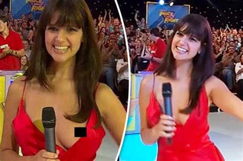 Wardrobe Malfunction Price Is Right tv presenter has nip slip live on australian the