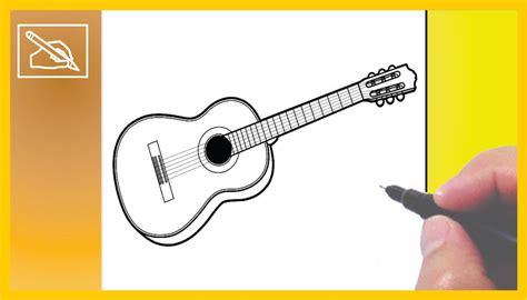imagenes de guitarras faciles para dibujar c 243 mo dibujar una guitarra ac 250 stica how to draw a guitar