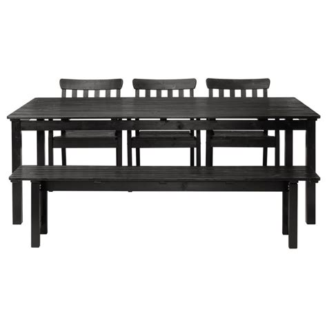 ikea table bench furniture farm style outdoor dining tables with well