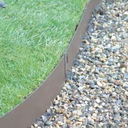 landscape edging metal brown flexible steel lawn edging harrod horticultural uk