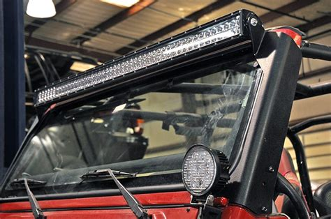 50 inch led light bar for jeep upper windshield 50in led light bar mounting brackets for