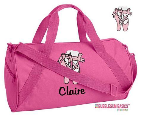 custom embroidered monogrammed dance bag ballet hot pink
