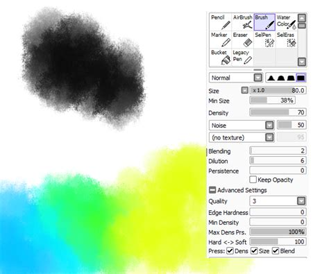 paint tool sai free zip noise brush and brush settings for painttool sai by