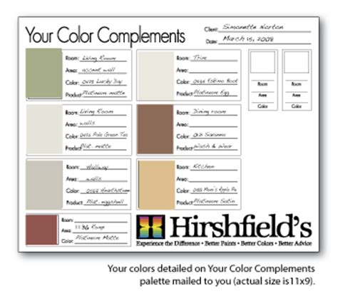 In Home Color Consultation Hirshfield S Paint Specification Template