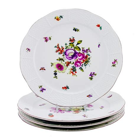 How To Decorate Dinner Plates by Vintage Herend Bouquet De Herend Decor Dinner Plates Set