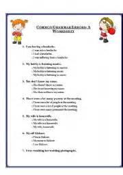 english teaching worksheets errors