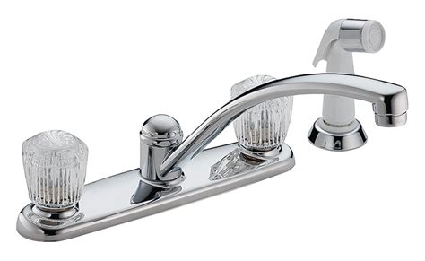 delta classic kitchen faucet 9 in x 5 9 in spout 8 in
