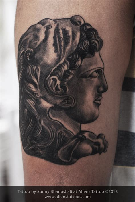 alexander the great tattoo the great inked by at aliens