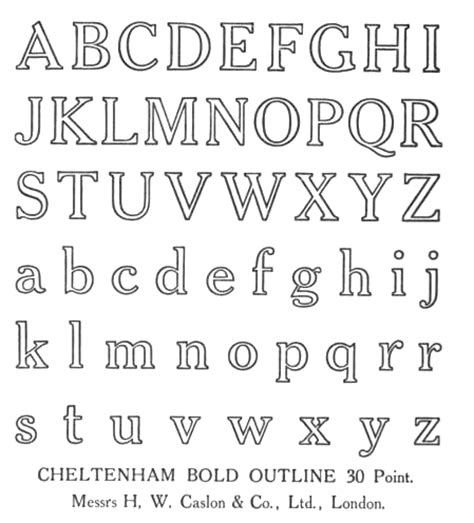 typography outline henry caslon