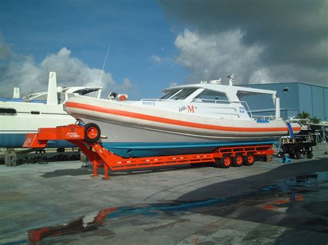 boat transport pictures broward trailer bsf45 363d with quot little m quot aboard