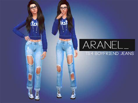 Sims 4 Cc Boyfriend Jeans | aranel s ripped boyfriend jeans