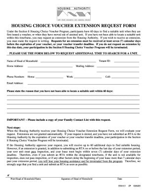 voucher for section 8 voucher extension letter fill online printable
