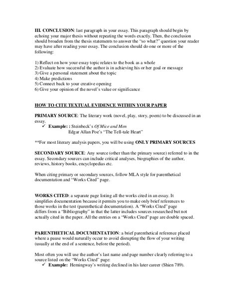 is a dissertation a primary source a guide to writing the literary analysis essay