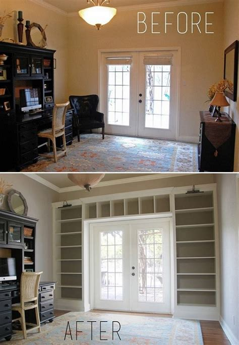 Build Bookshelves Into Wall Diy Turn A Dull Wall Into An Impressive Floor To Ceiling