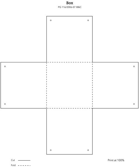 printable box template 6 best images of free printable box templates square