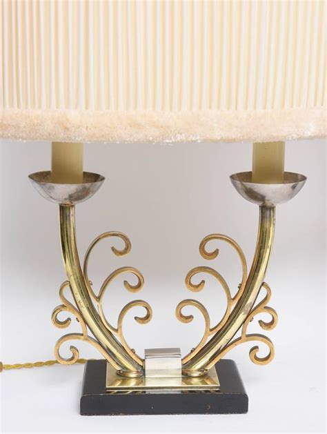 deco table l shades pair of deco table ls in brass and silver with