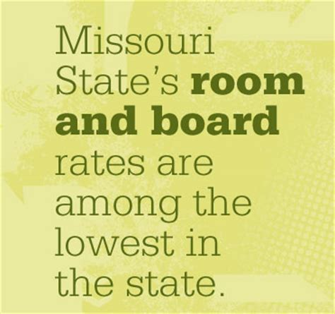 state room and board cost tuition costs and fees missouri state