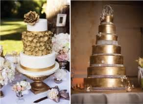 Golden Wedding Cakes by Metallic Wedding Cakes Golden Wedding Cakes