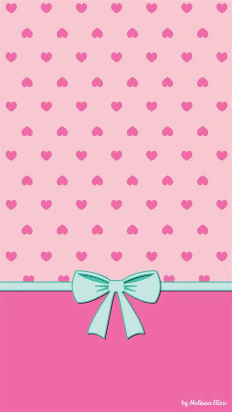 wallpaper pink bow pink hearts blue bow wallpaper iphone wallpapers