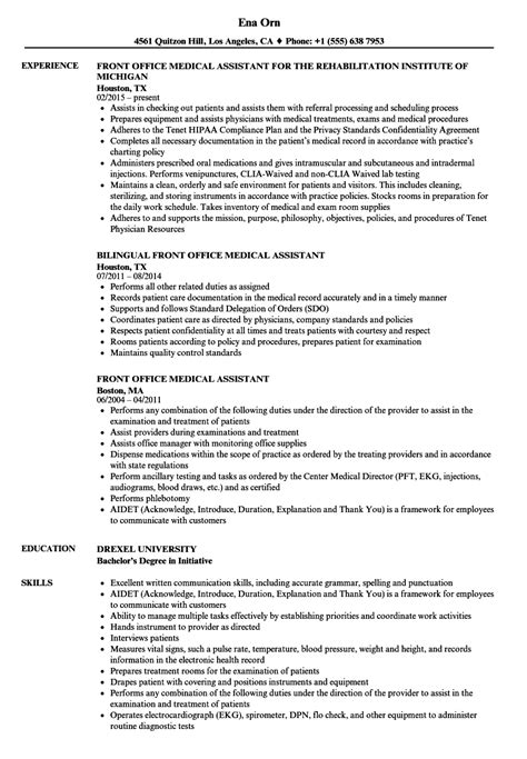 medical assistant resume 7 free samples examples format