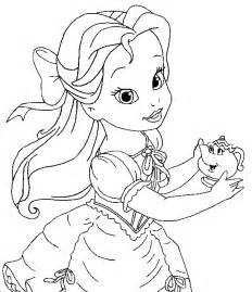 baby disney princess coloring pages cute princess