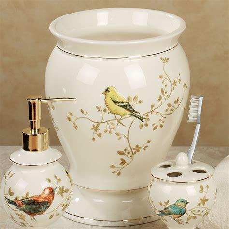 Bird Bathroom Accessories Gilded Bird Ceramic Bath Accessories