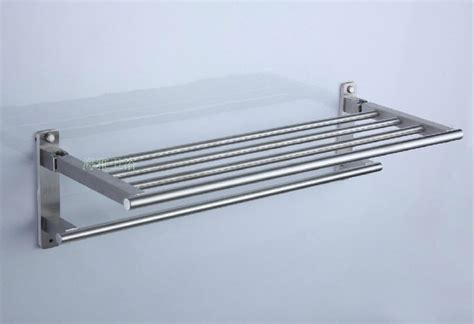 bathroom shelf with hooks satin stainless steel bathroom shelf with towel bar 7960b