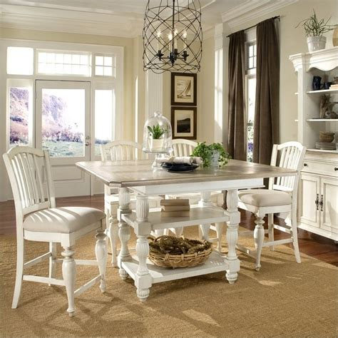 Coventry Dining Table Riverside Furniture Coventry Two Tone Dining Table In Dover White 32554