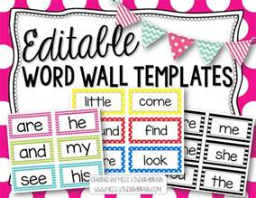 Editable Flash Templates Free by Editable Word Wall Templates Miss Kindergarten
