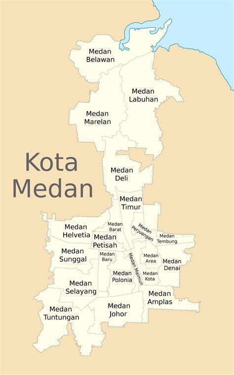 3 Di Medan file peta lokasi kecamatan kota medan svg