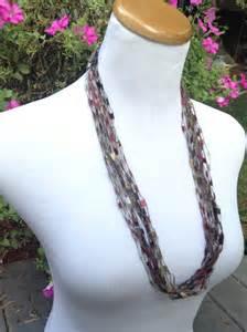 trellis yarn jewelry ladder yarn necklace trellis yarn necklace necklace