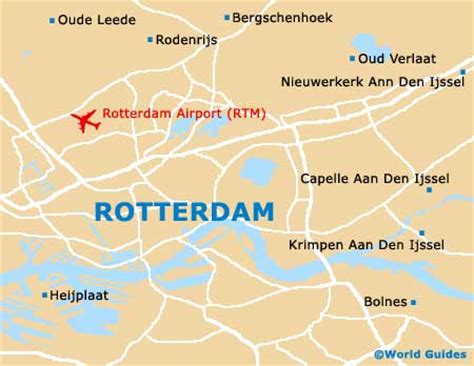 rotterdam netherlands on map map of rotterdam the hague airport rtm orientation and