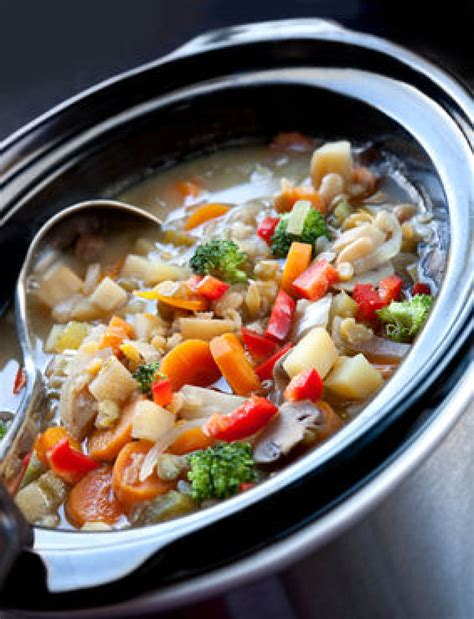 vegetarian cooker soup recipes cooker chicken vegetable soup recipe 2 just a pinch
