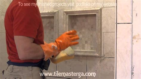 diy bathroom wall tile part quot 6 quot how to apply grout on shower wall tiles diy