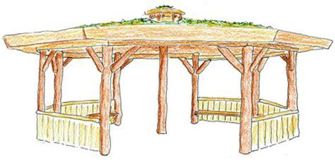 pavillon rundholz sitzgelegenheiten besendahl naturnahe spielger 228 te