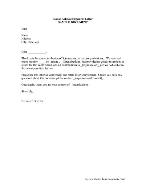 Donation Letter Confirmation Best Photos Of Acknowledgement Letter Templates Sle