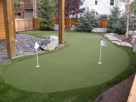 backyard putting greens  home entertainment call
