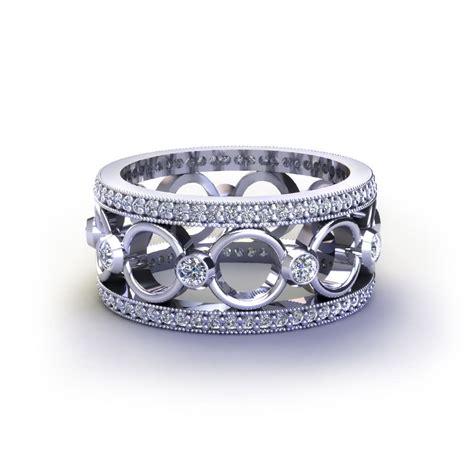 adding diamonds to wedding band circle wedding ring jewelry designs