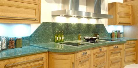 green worktops for kitchens recycled glass worktops