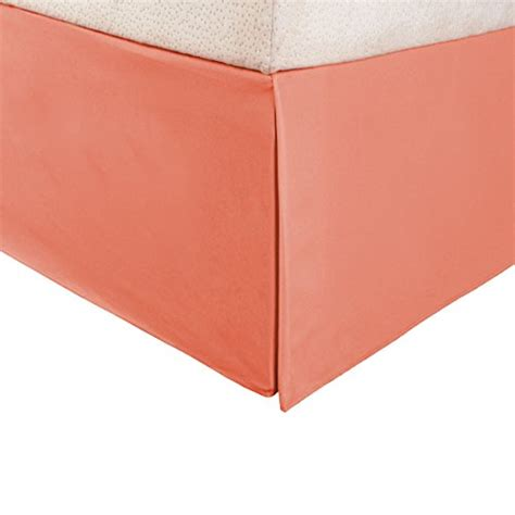 coral bed skirt 1500 series 100 microfiber pleated queen bed skirt solid