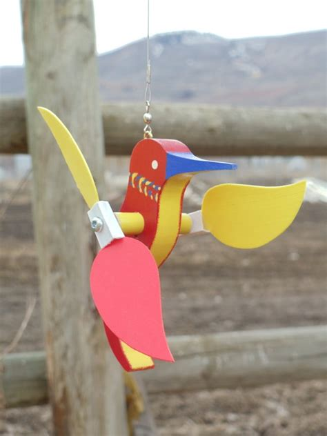 Handmade Wind Spinners - whirlygig hummingbird handmade by personlizedpuzzled on