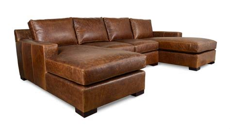 cococohome durham chaise leather sectional made