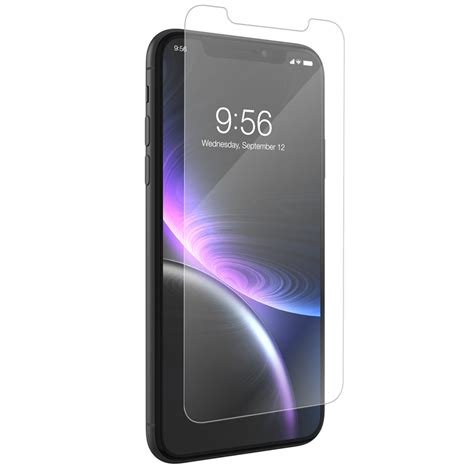zagg invisibleshield glass visionguard screen protector for iphone xr cases protectors