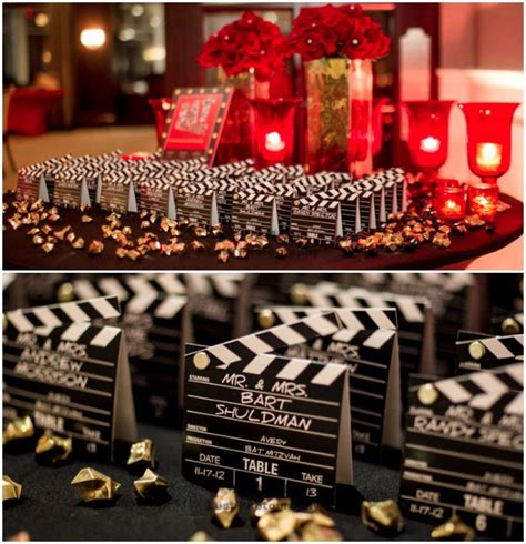 movie themes names hollywood party escort place cards melani lust