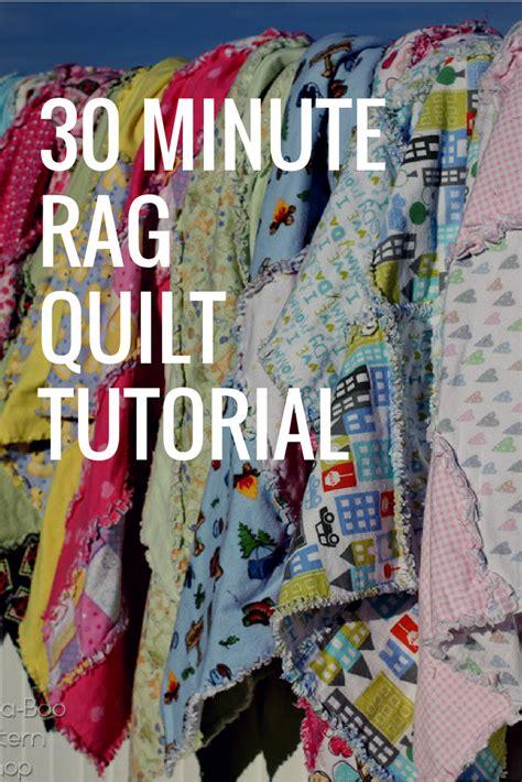rag quilt pattern tutorial  minutes