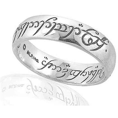 official lord of the rings silver one ring the lord of