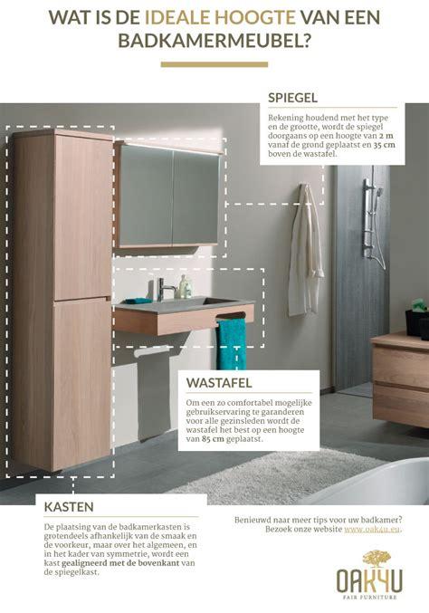 badkamerkast boven wastafel wat is de ideale hoogte van een badkamermeubel